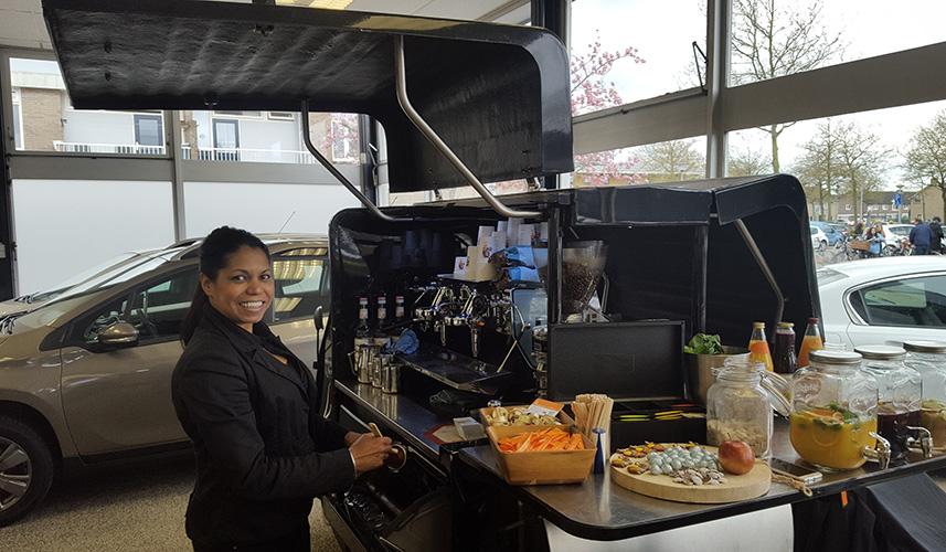 Vespa Piaggio koffie catering